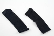 Lapel funeral ribbon - black - dimensions 10 cm x 2.5 cm