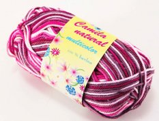 Yarn Camila natural multicolor - gray white pink- color number 9074