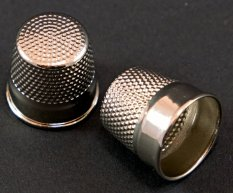 Metal tailor's thimble - silver