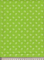 Cotton canvas with hearts - green, white - width 140 cm