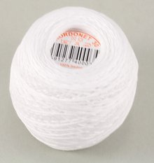 Yarn Kordonet n.30  - white - color number 0010
