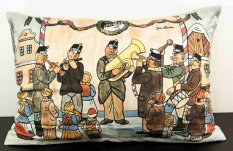 Cushion cover with zipper - Josef Lada - Musicians