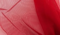 Solid netting tulle - red - width 150 cm