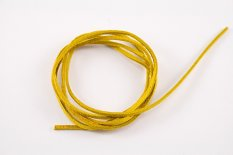 Leather cord - yellow - length cca 90 cm