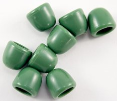 Plastic cord end - green - pulling hole diameter 0,5 cm