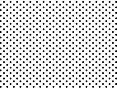 Cotton canvas - black dots on white background