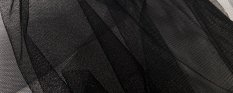 Solid netting tulle - black - width 160 cm