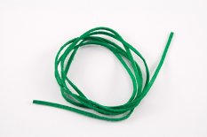 Leather cord - green - length cca 90 cm