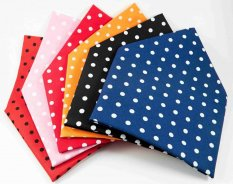 Cotton scarves with large polka dots - more colors - dimensions 65 cm x 65 cm