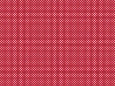 Cotton canvas - white dots on red background