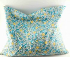 Buckwheat pillow - gray with flowers - dimensions 35 cm x 28 cm