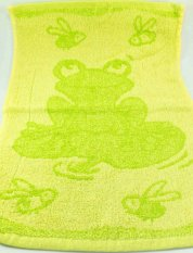 Children's green towel - firecracker