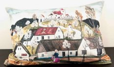 Cushion cover with zipper - Josef Lada - Spring trip to the village