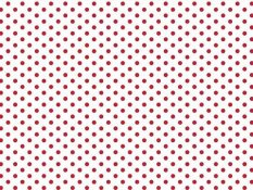 Cotton canvas - red dots on white background