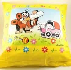 Mole and baby - cushion cover with zipper