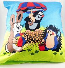 Mole and friends - cushion cover with zipper
