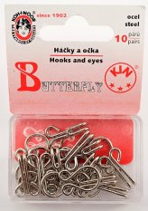Hooks and eyes pack of 10 pieces - silver