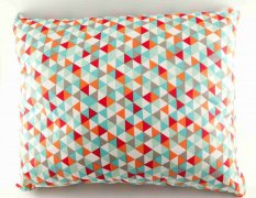 Herbal pillow for a good night's sleep - with colored triangles - dimensions 33 cm x 25 cm