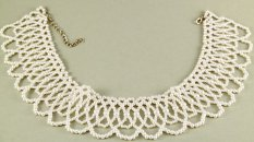 Decorative collar with pearls - dimensions 37 cm x 25 cm