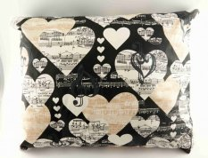 Herbal pillow for a good night's sleep - with hearts - dimensions 33 cm x 25 cm