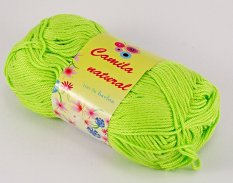 Yarn Camila natural - lime green - color number 145