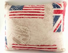 Herbal pillow for a good night's sleep - with flag - dimensions 33 cm x 25 cm