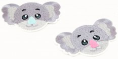 Iron-on patch - Koala with a colored nose - dimensions 7 cm x 5 cm