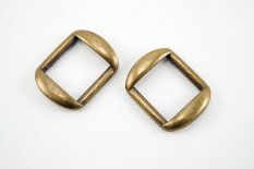 Metal clothing buckle - antique brass- pulling hole width 2 cm