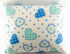 Herbal pillow for fragrant dreams- with hearts - dimensions 33 cm x 25 cm