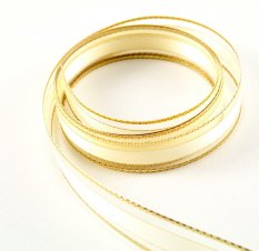 Wired ribbon - gold - width 1.5 cm