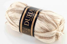 Yarn Duha - brown cream 403