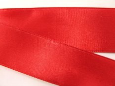 Red satin ribbon No. 3079