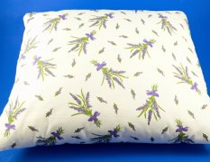 Buckwheat pillow - white with lavender - dimensions 35 cm x 28 cm