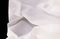 Cotton embroidery Pearl fabric - white - width 140 cm