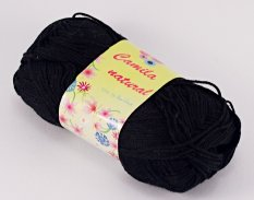 Yarn Camila natural -  black- color number 1