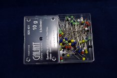 Pins with colored glass head, Galant - 10 g - length 3 cm