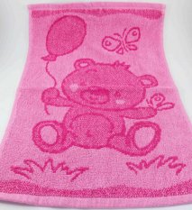 Baby pink towel - teddy bear